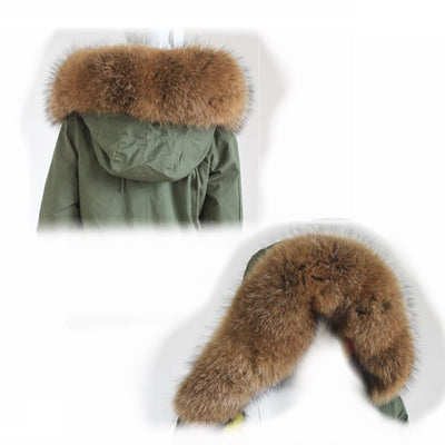 Adult size Natural colour Racoon fur Trim(trim only)