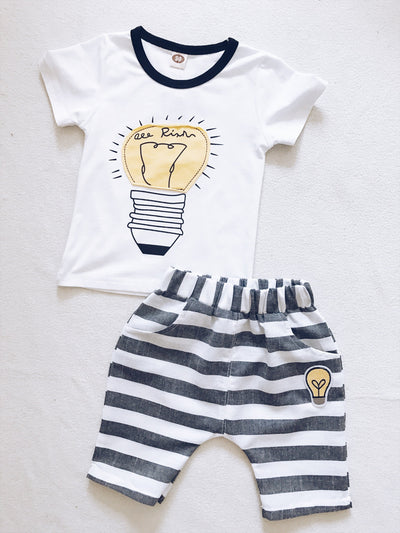 LIGHT 2 piece set (top and shorts)