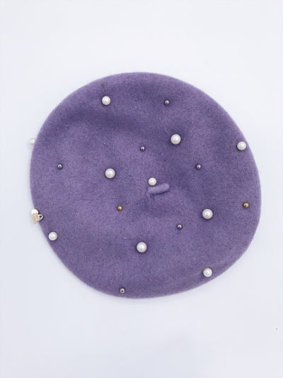 MI LOVES SIGNATURE BIG KIDS/Adults Wool/Pearls  BERETS