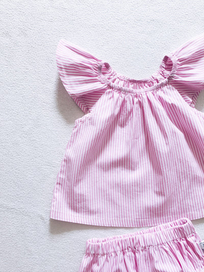 Pink Summer set (top and bloomers)