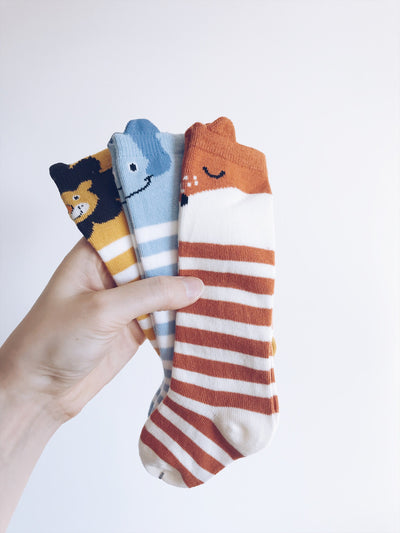 Cute animals-Hearts  High Knee Socks