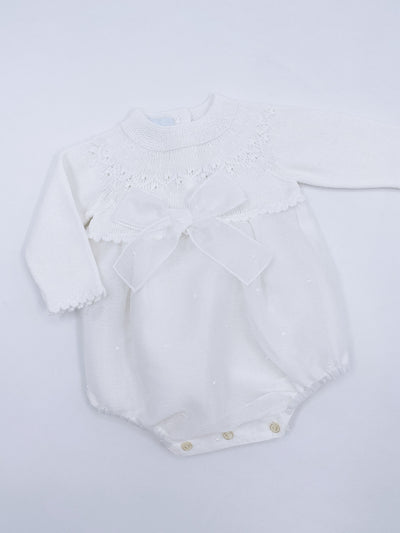 Beautiful ivory Unisex baby romper