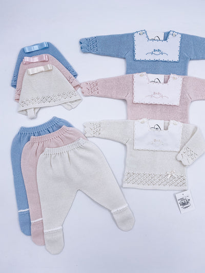 Beautiful knitted BABY 3 piece set