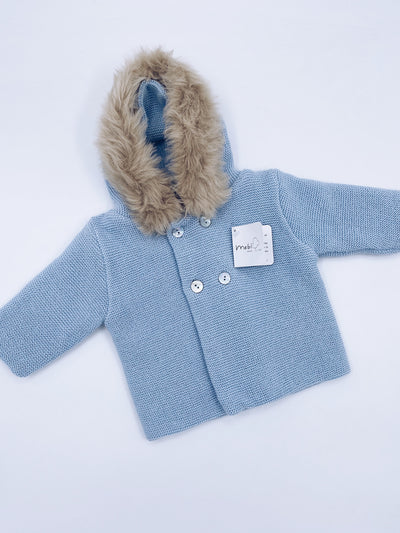 Mebi knitted cardigan in Blue