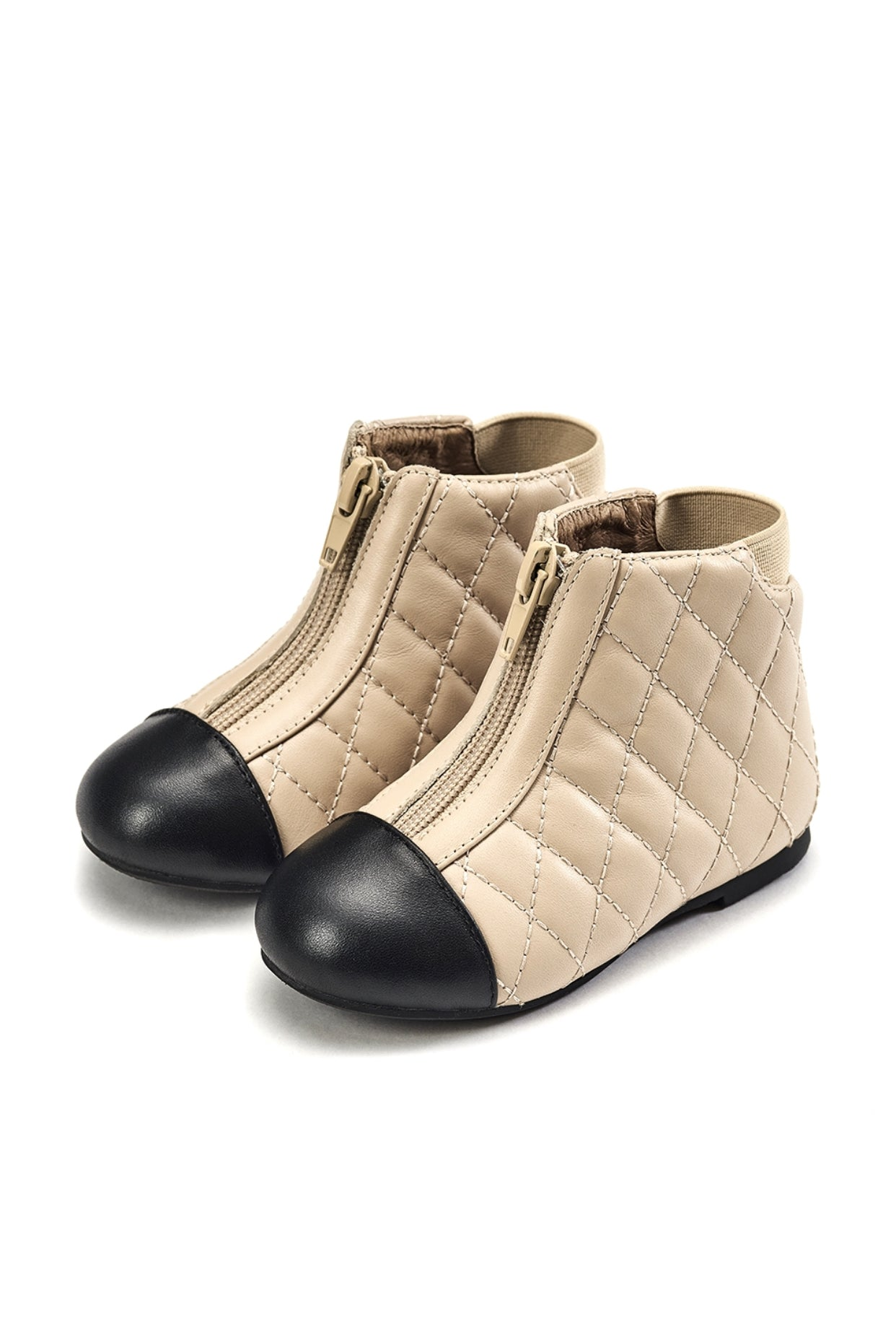 Age of Innocence Nicole 2.0(Wool lining)boots in Beige/Black
