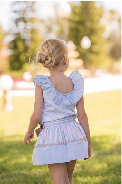 SS20 Dolce Petit Costura Beautiful Blue/Pink skirt set