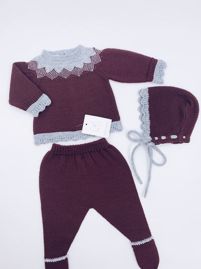 Carmen Taberner knitted 3 piece set.