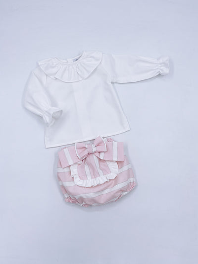 Rochy AW20/21 Beautiful pink 2 piece shorts set with bow details