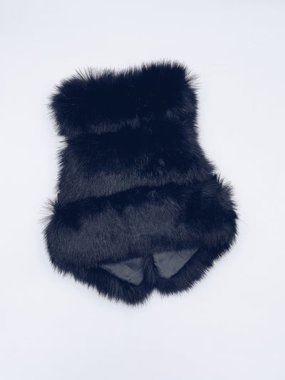 MI LOVES SIGNATURE Synthetic fur vest in black