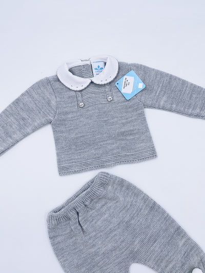 Beautiful knitted baby set in grey(N708)