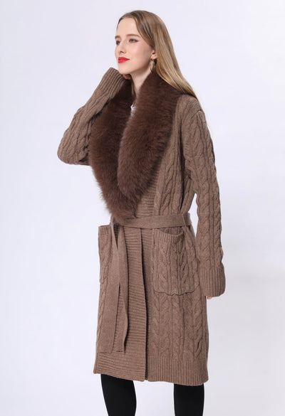 Luxurious Wrap knitted cardigan
