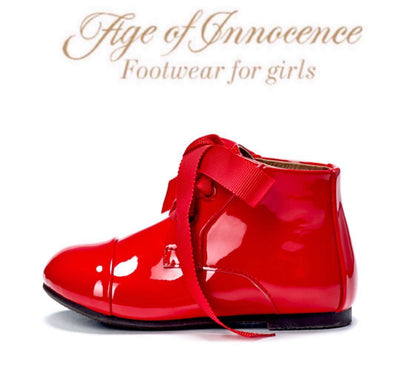Age Of Innocence JANE Boots in Patent Leather