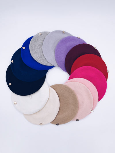 MI LOVES SIGNATURE Baby/Kids Classic Beret.