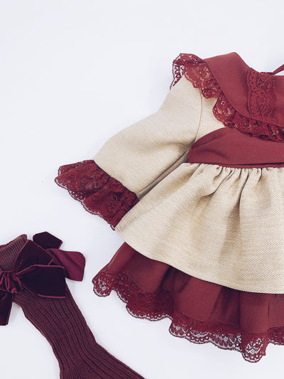 Beautiful Sonata puffball dress with lace and bow details