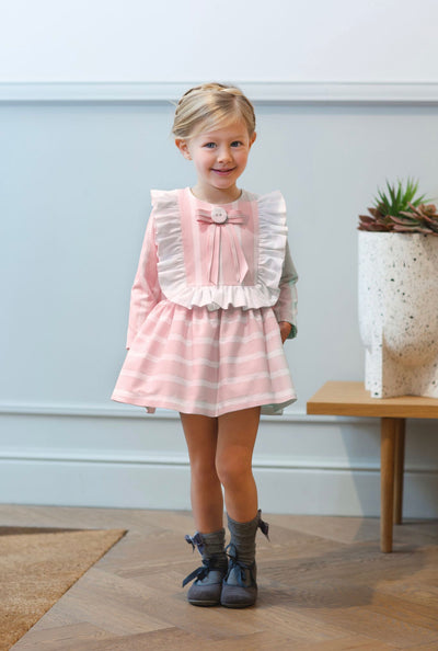 Rochy AW20/21 Beautiful Pink Lurex dress with bow details