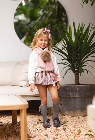 Rochy Beautiful Dusty pink Jam Pant set with bow details