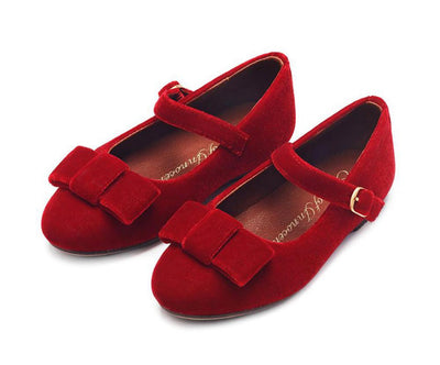 Age of Innocence Ellen Red Velvet shoes
