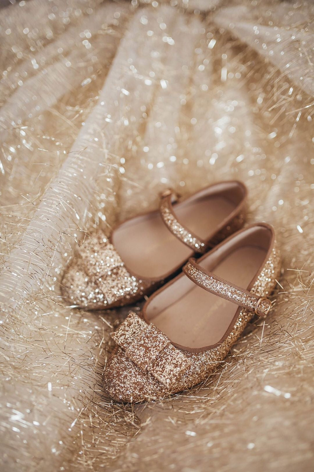 Age of Innocence Ellen glitter Gold shoes