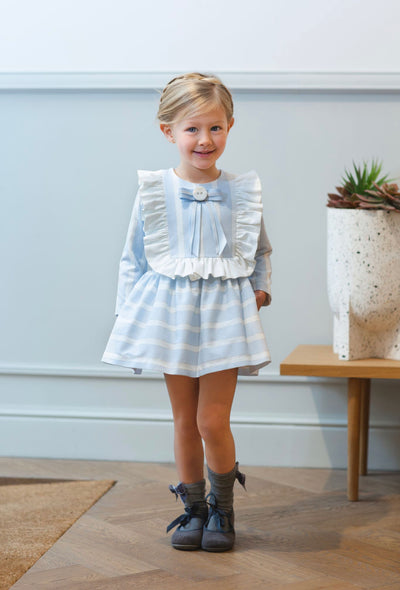 Rochy AW20/21 Beautiful Baby Blue lurex dress with bow details