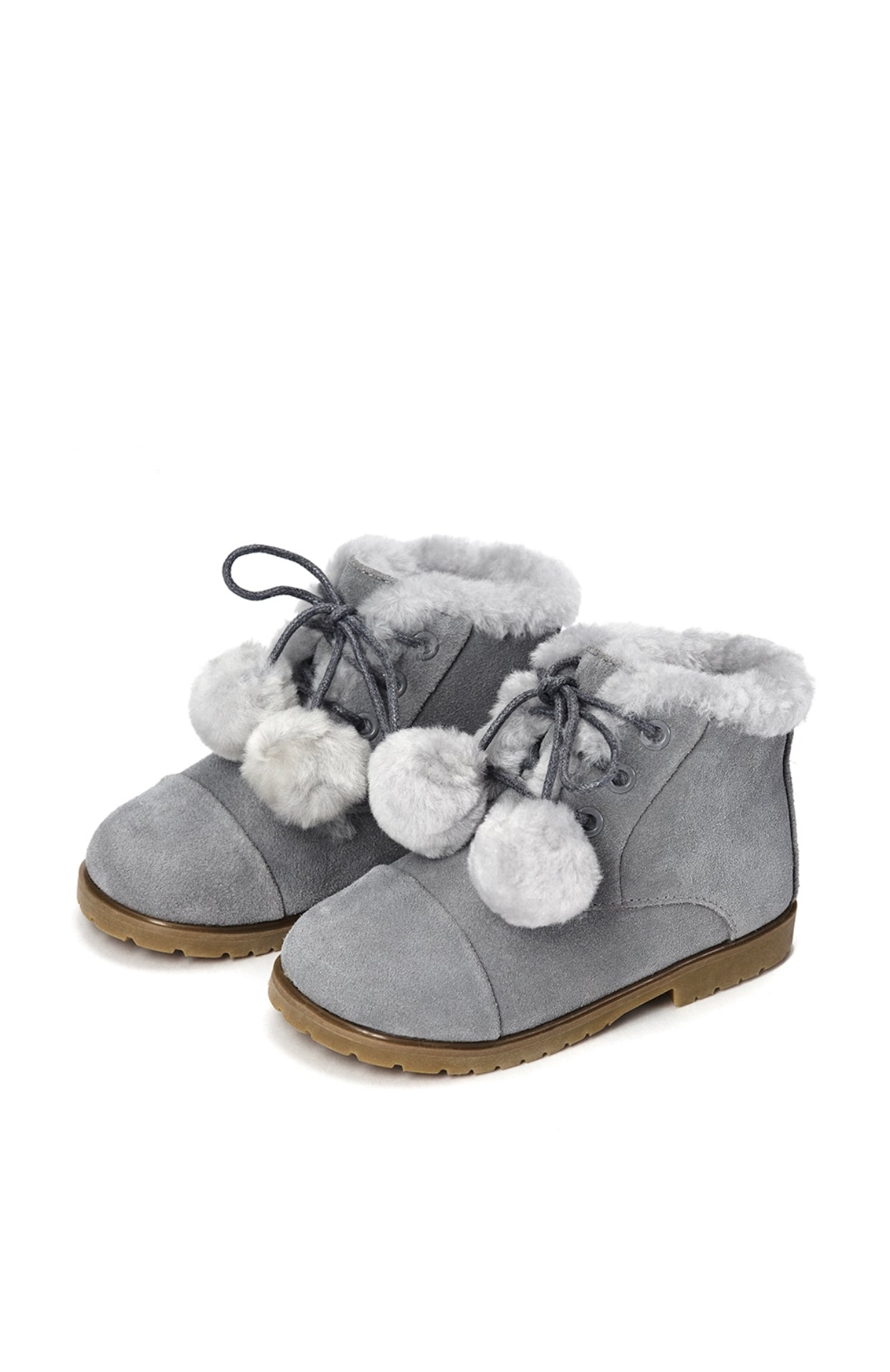 Age of Innocence Zoey pompom boots in Grey