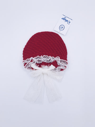 Rahigo knitted Bonnet with frills