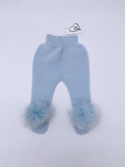 MI LOVES SIGNATURE Knitted pompom Leggings.