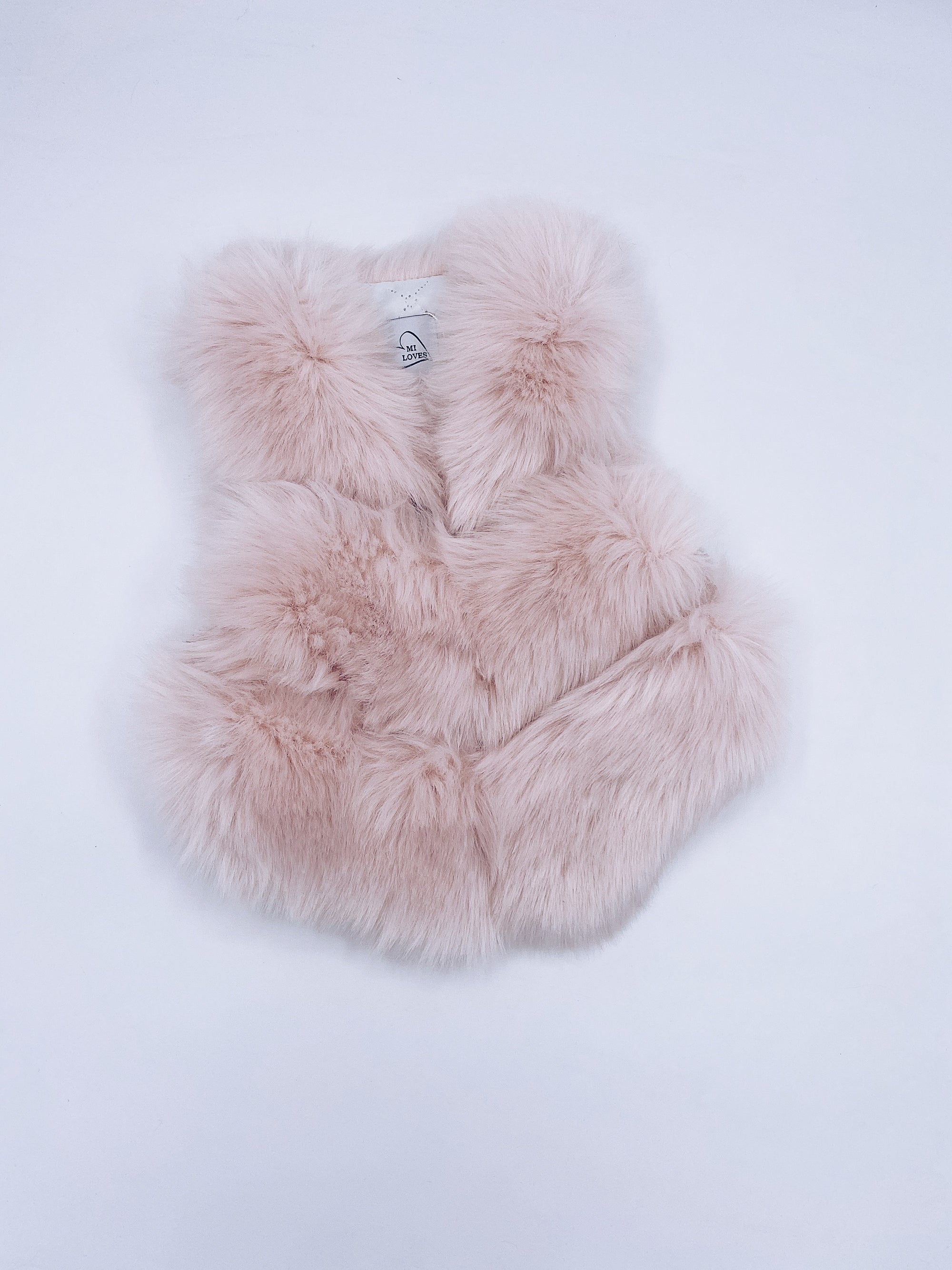 MI LOVES SIGNATURE Synthetic fur vest in Baby pink