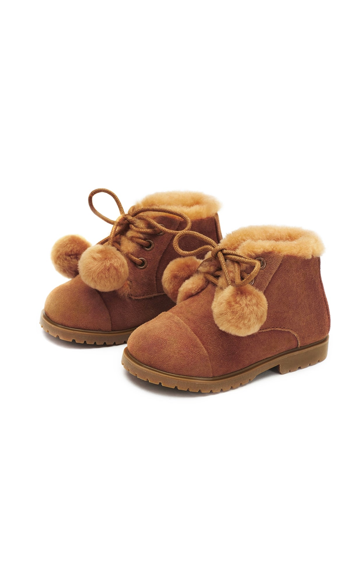 Age of Innocence Zoey pompom boots in Brown