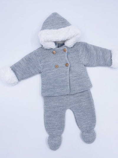Grey knitted 2 piece set