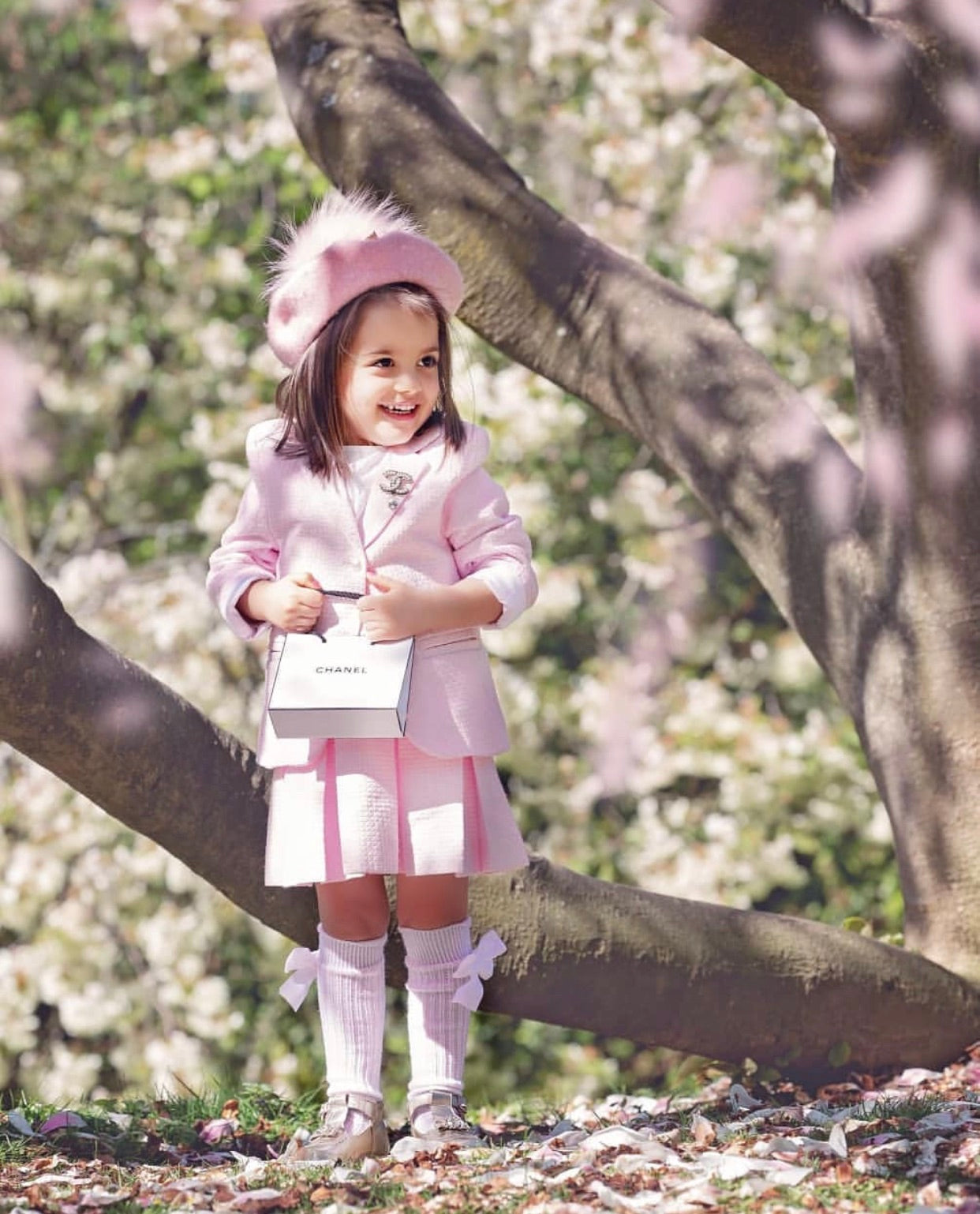 Beautiful baby pink Jacket and Skirt set