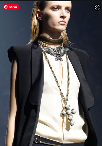 Lanvin snanke belt and necklace