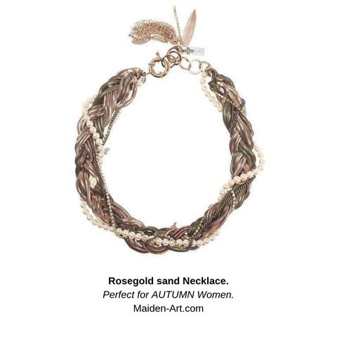 Rosegold sand Necklace | Maiden-Art.com