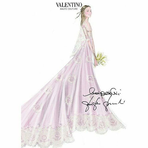 Beatrice Borromeo's Valentino dress