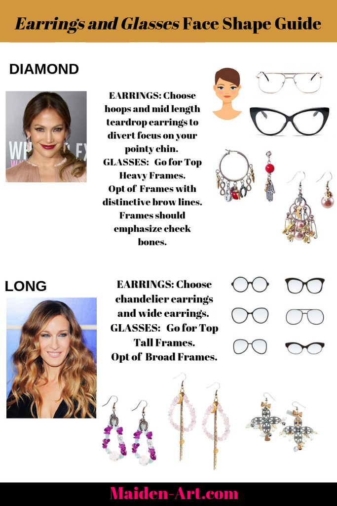 Jewelry and Glasses Face Shape Guide