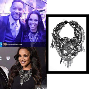 Sheree Zampino and Will Smith wearing Maiden-Art jewelry