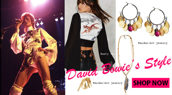 Hand made hippie bohemienne jewelry inspired by David Bowie's style