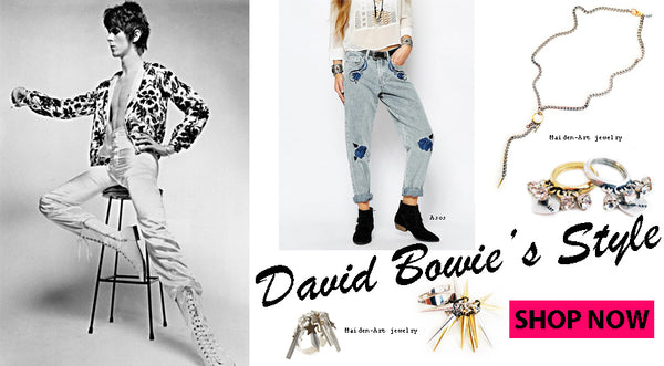 Rock and boho jewelry inspired by David Bowie's Style