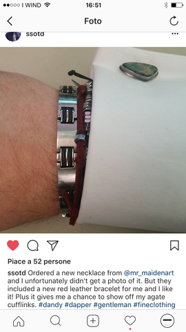 customer review about @mr_maidenart mens jewelry on instagram