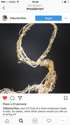 customer review on necklace from Maiden-Art