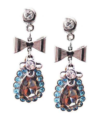 Dangle and drop earrings with crystals