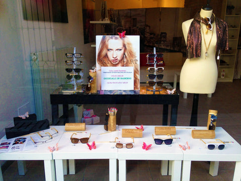 Colin Leslie Eyewear Pop Up Store at Maiden-Art jewelry Angera Varese Italy
