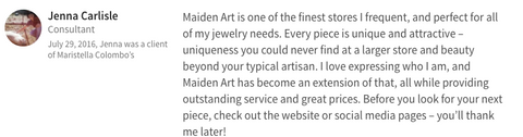 customer review about maiden-art jewelry
