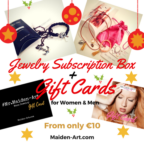 Jewelry Subscription box and gift card for women and men