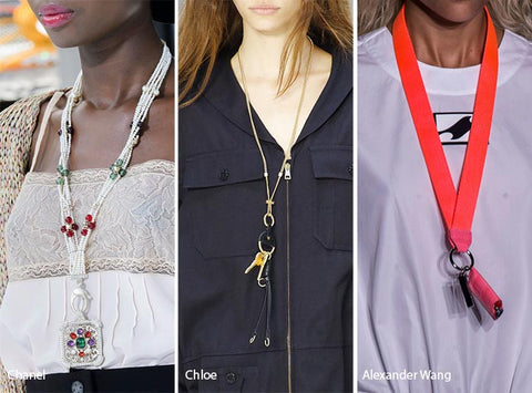 Lanyard necklace from Spring Summer 2017