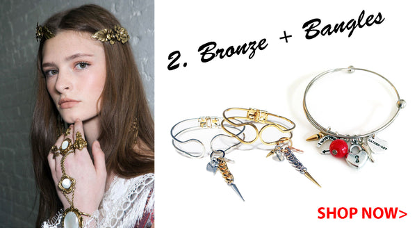Bronze makeup and Bangles Spring 2016 Maiden-Art.com