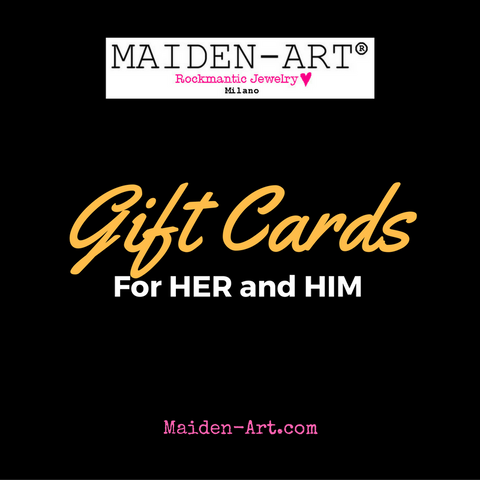 Maiden-Art personalized Gift Cards for her and him