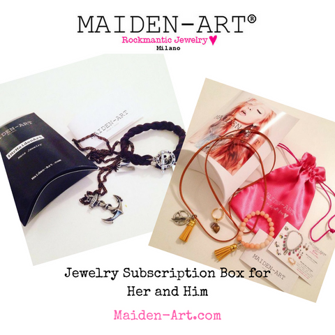 Jewelry subscription box for her and for him