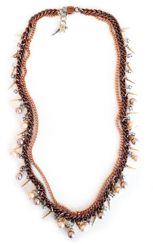 lariat necklace with pearls