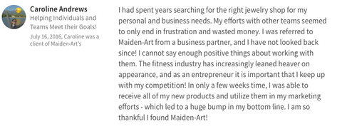 Customer review maidenart jewelry