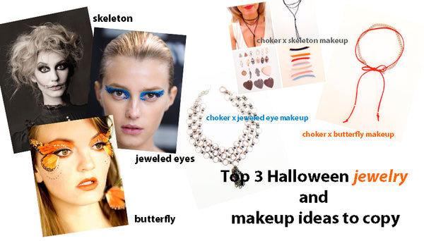 top 3 halloween jewelry and make up ideas to copy